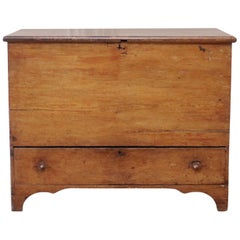 Antique Primitive Blanket Chest or Commode