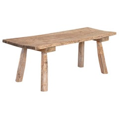 Antique Primitive Coffee Table with Splay Legs from Sweden
