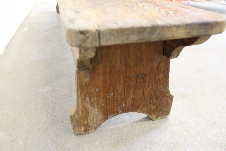 Antique Primitive Elongated Bench For Sale 4