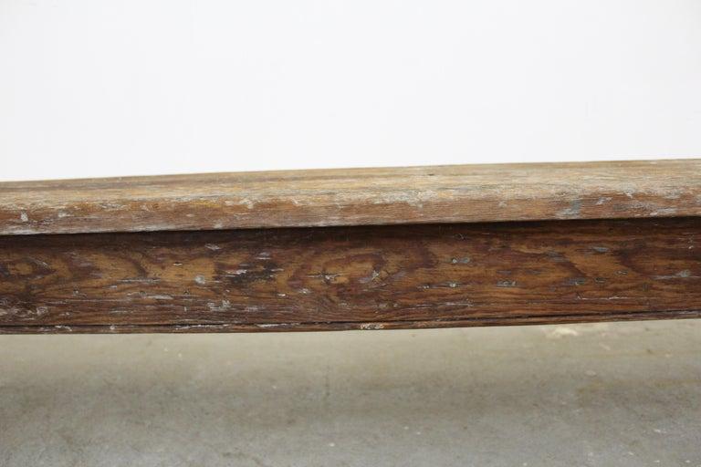 Antique Primitive Elongated Bench For Sale 5