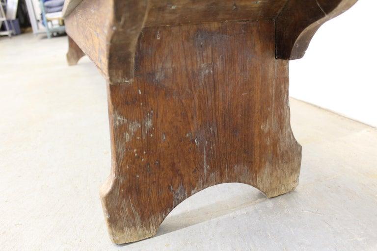 Antique Primitive Elongated Bench For Sale 6