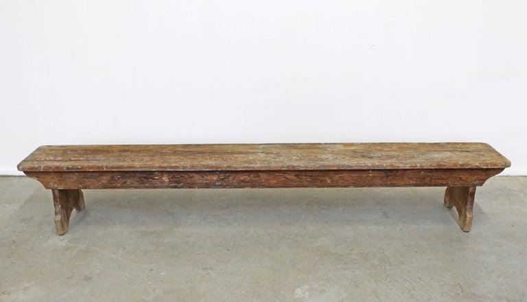 American Antique Primitive Elongated Bench For Sale