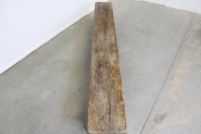 Antique Primitive Elongated Bench In Good Condition For Sale In Wilmington, DE
