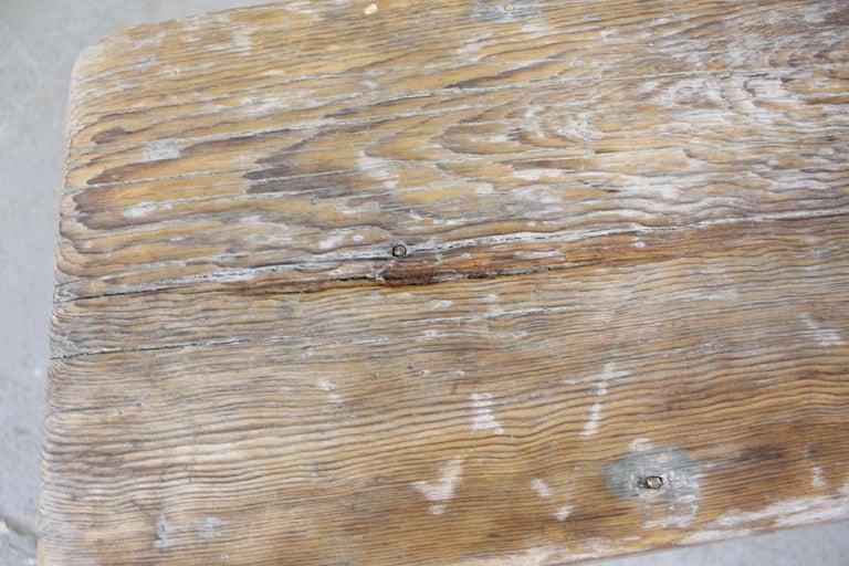 Antique Primitive Elongated Bench For Sale 2