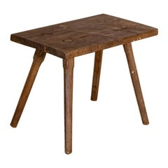 Antique Primitive Small Bench or Stool with Splay Legs