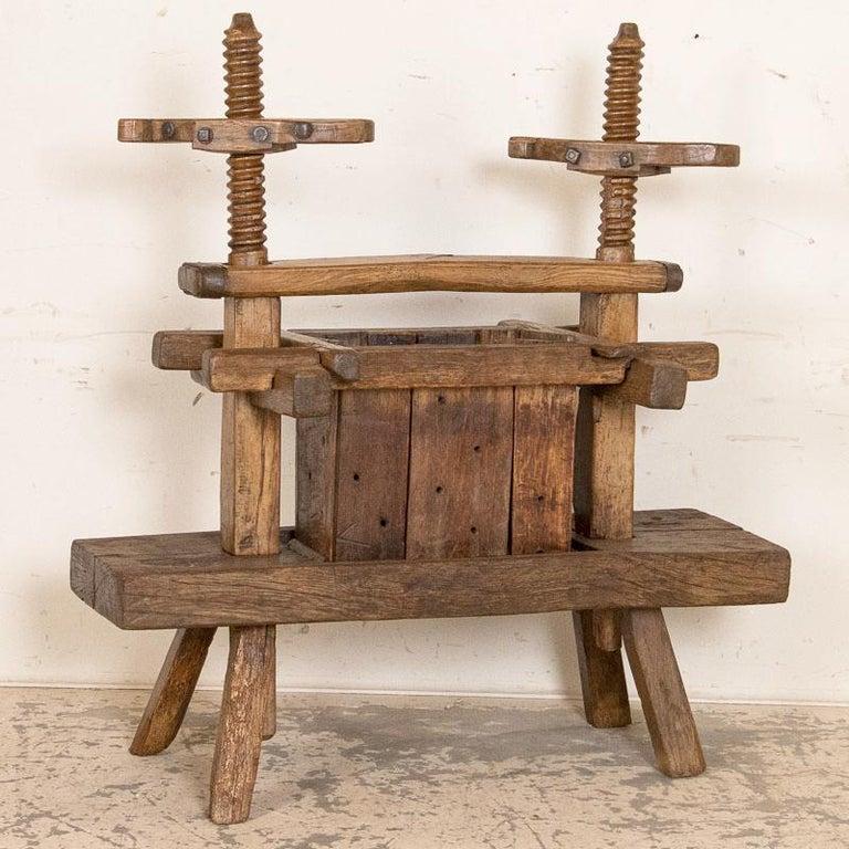 Hungarian Antique Primitive Wood Wine Press, circa 1880 For Sale