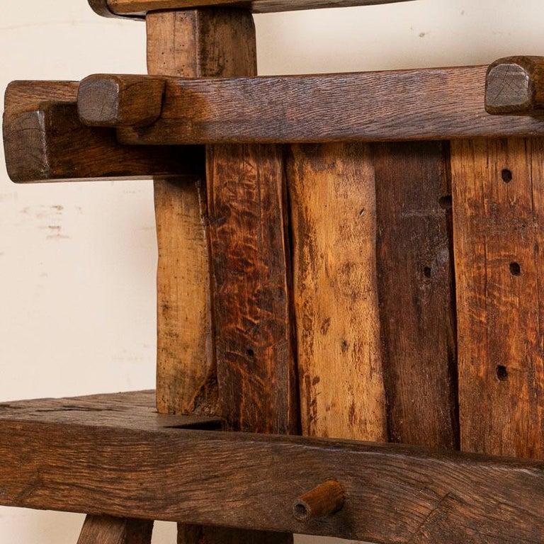 19th Century Antique Primitive Wood Wine Press, circa 1880 For Sale