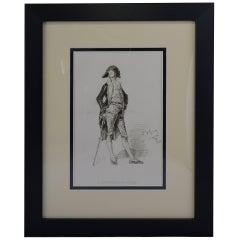 "Antique Print, ""A Gentleman of Gouda"""