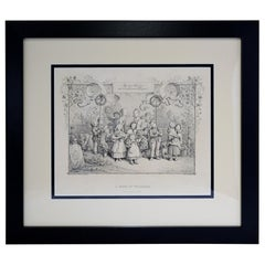 """Antique Print, """"A Song of Welcome"""""""