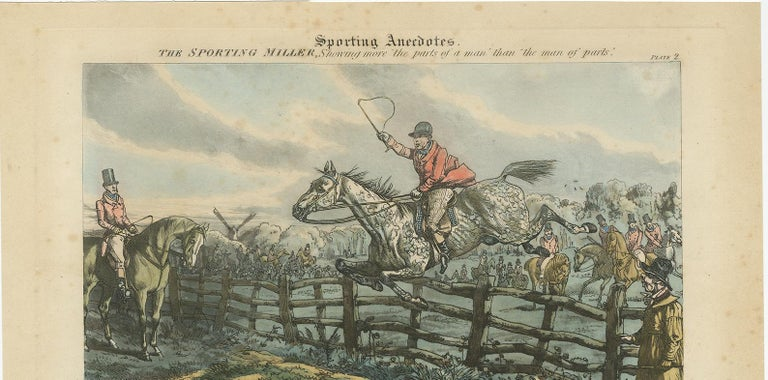 Antique Print 'Half a Crown, You Dont Clear It!!!' by H. Alken In Good Condition For Sale In Langweer, NL