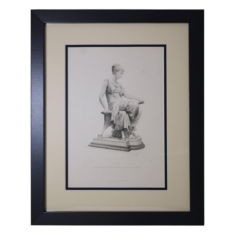 "Antique Print, ""IONE"" For Sale"