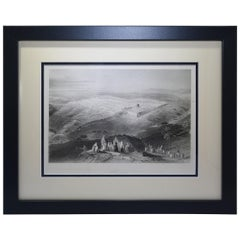"Antique Print, ""Jerusalem"""