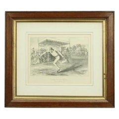 Antique Print, Lawn Tennis Match
