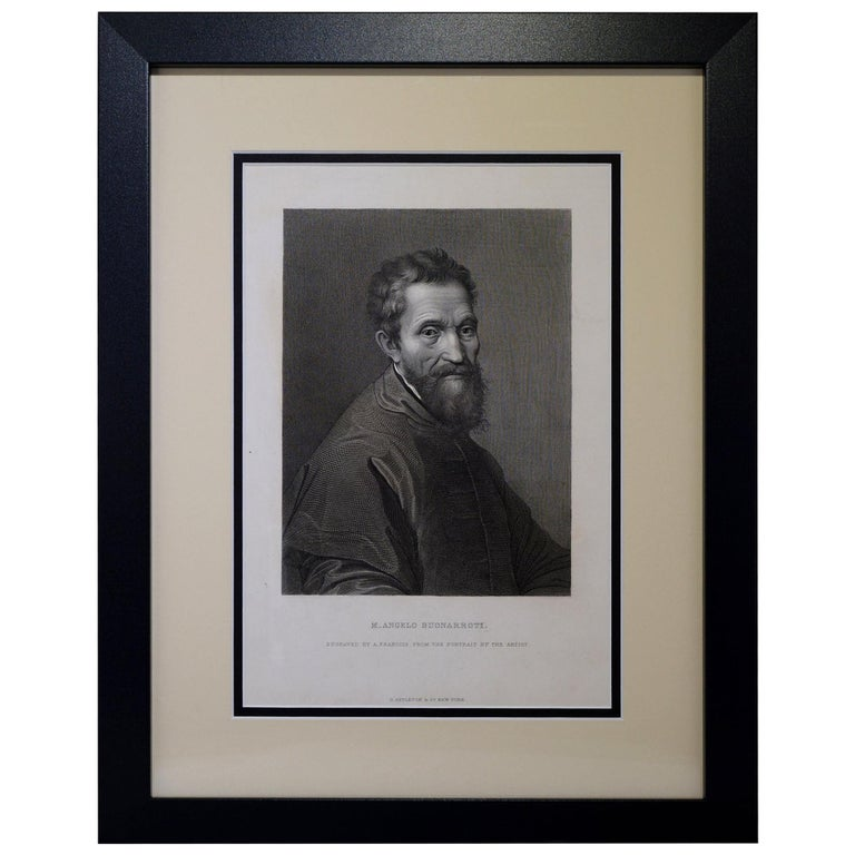 "Antique Print, ""M. Angelo Buonarroti"" For Sale"