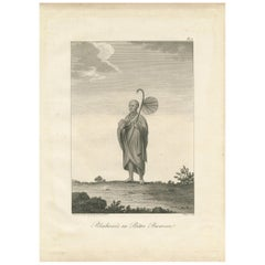 Antique Print of a Burmese Priest by Symes, 1800