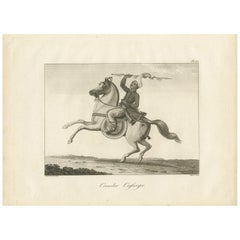 Antique Print of a Burmese Warrior by Symes, 1800