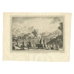 Antique Print of a Chinese Funeral by Chedel
