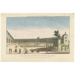 Antique Print of a Court in Berlin by Huquier, circa 1760