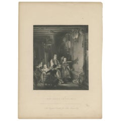 Antique Print of a Family and a Child Projecting a Rabbit on the Wall, 'c.1880'