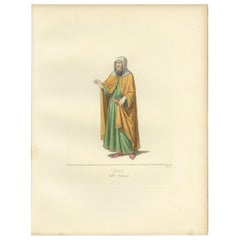 Antique Print of a Jewish Man in Italy by Bonnard, '1860'