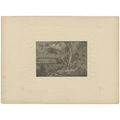 Antique Print of a Landscape Made after E. Kingsley, circa 1893