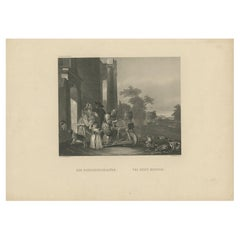 Antique Print of a Man Grinding Knives by French, 'c.1850'