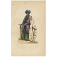Antique Print of a Persian Priest by Wahlen '1843'