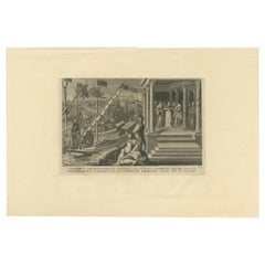 Antique Print of a Scene Related to the Union Obtained by Paul III, '1748'