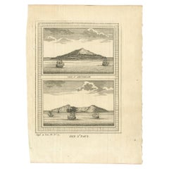 Antique Print of Amsterdam and St. Paul Island by Bellin '1753'