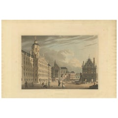 Antique Print of Amsterdam by Bowyer, '1816'