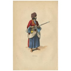 Antique Print of an Afghan from Herat by Wahlen '1843'