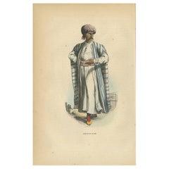 Antique Print of an Arab Merchant by Wahlen, 1843