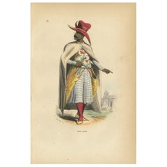 Antique Print of an Arab Nobleman by Wahlen '1843'