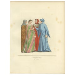 Antique Print of an Engagement in Italy by Bonnard, 1860