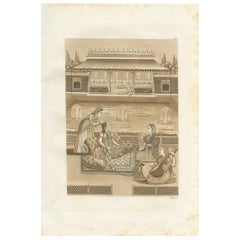 Antique Print of an Indian Princess by Ferrario, '1831'