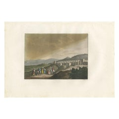 Antique Print of Bethlehem with the Convent by Ferrario, '1831'