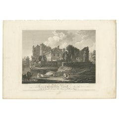 Antique Print of Beverston Castle by Byrne, '1778'