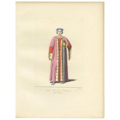 Antique Print of Cangrande I Della Scala, Italian Nobleman, by Bonnard, '1860'