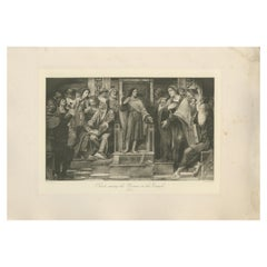 Antique Print of 'Christ among the Doctors in the Temple' after Luini 'c.1890'