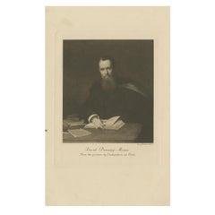 Antique Print of David Monro by Walker, circa 1900