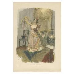 Antique Print of 'Die Salonzauberin', 1901
