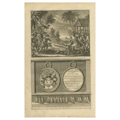 Antique Print of Dutch Colonists by Valentijn '1726'