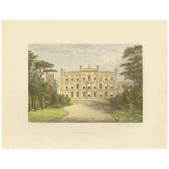 Antique Print of Elvaston Castle by Morris, 'circa 1880'