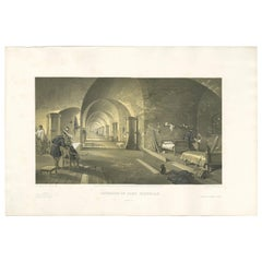 Antique Print of Fort Nicholas 'Crimean War' by W. Simpson, 1855