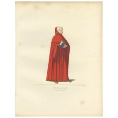 Antique Print of Francesco Petrarca by Bonnard, 1860