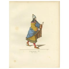 Antique Print of Frederick III, 15th Century, by Bonnard, 1860
