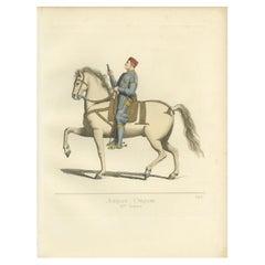 Antique Print of Giordano Orsini, Italian Captain, by Bonnard, 1860