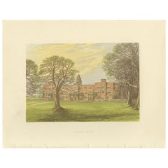 Antique Print of Hatfield House by Morris, 'circa 1880'