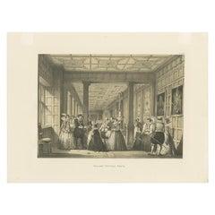 Antique Print of Hatfield House by Nash, 'circa 1870'