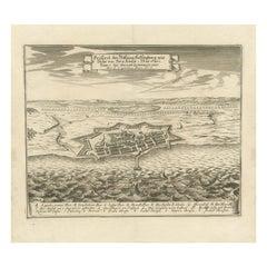 Antique Print of Helsingborg by Merian 'circa 1680'